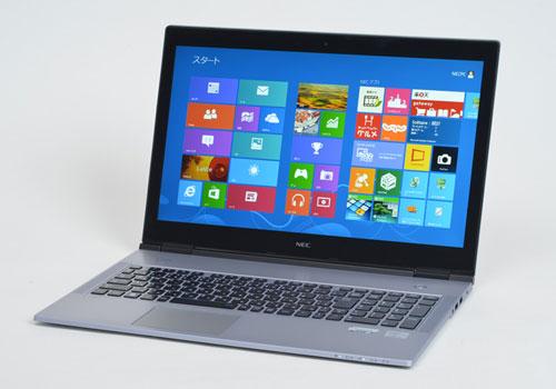 NEC-Lavie-X-Slimmest-Laptop-premium-design-front-left-open-dandy-gadget-computers