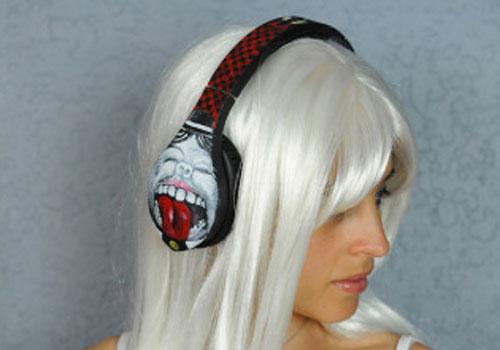 Artistic  headphones by Velodyne at PULSE 2013