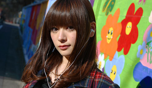 JVC Victor HP FXC70 Headphone Great Sound Sexy Teen Japanese Model Aira Mitsuki Cool Dandy Gadget Headphones ... males, Mature Adult, Mature Men, men, patient, photography, rear view, ...