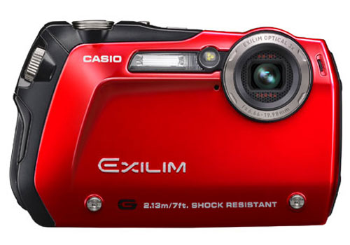 Casio Exilim EX-G1 Casio_exilim_ex_g1_rugged_digital_camera_cameras_and_camcorders_gadget_red_front
