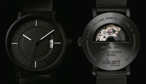 a.b.art OA All Black Special Edition 2010 Watch — Simplicity is The Key