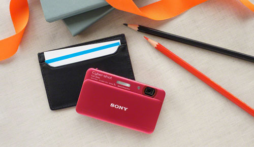 Sony DSC-TX55 Cyber-shot Compact Camera, Slim with a Super-size OLED Touchscreen!