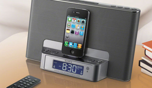 Sony ICF-DS15iP Compact Clock Radio Dock, Your Morning Alarm!
