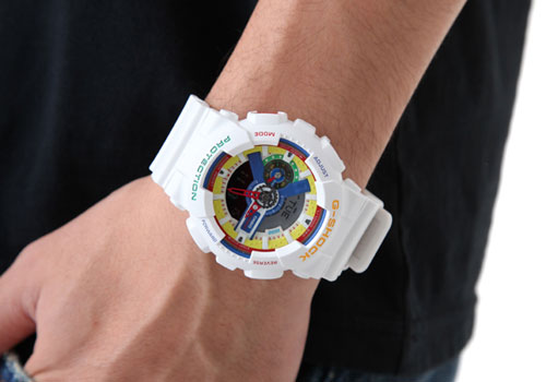 cda7b774e070 Fashioned in white matte color finish with Dee and Ricky stamped on its  strap, Casio G-Shock GA-111DR-7A limited edition chronograph watch ...