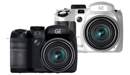 GE_X550_X600_Power_Pro_Series_Bridge_Cameras_Sexy_White_Elegant_Black_Front_Center_Sexy_Duo_Dandy_Gadget_Digital_Cameras