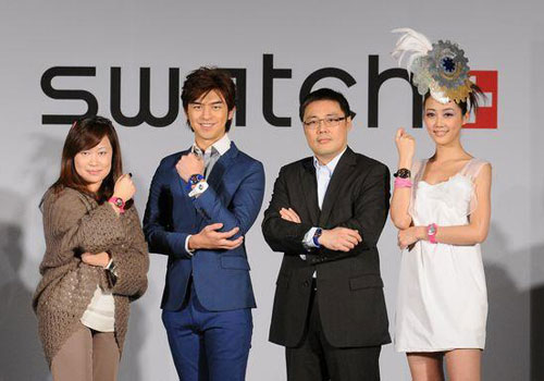 Swatch_2012_New_Gent_Lacquered_Collection_Watch_Fun_Colors_Chen_Bo_Lin_Sexy_Teen_Chinese_Model_Dandy_Gadget_Timepiece