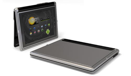 Novero_Solana_Hybrid_Tablet_PC_Elegant_Black_Silver_Front_Left_Open_Tablet_Closed_Dandy_Gadget_Computers