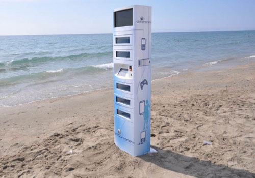 Gidophone-inductive-charging-tower-kiosk-stand-beach-dandy-gadget-technology