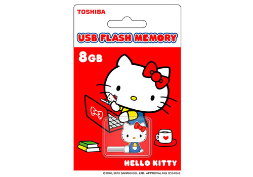 Yet another cute Hello Kitty theme – Toshiba UKT-A008G USB flash disk