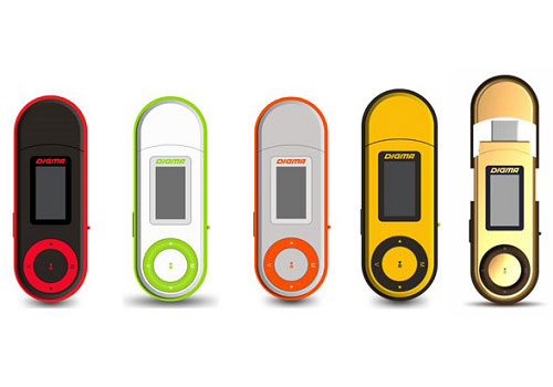 DIGMA U1 mp3 player, compact and bright!